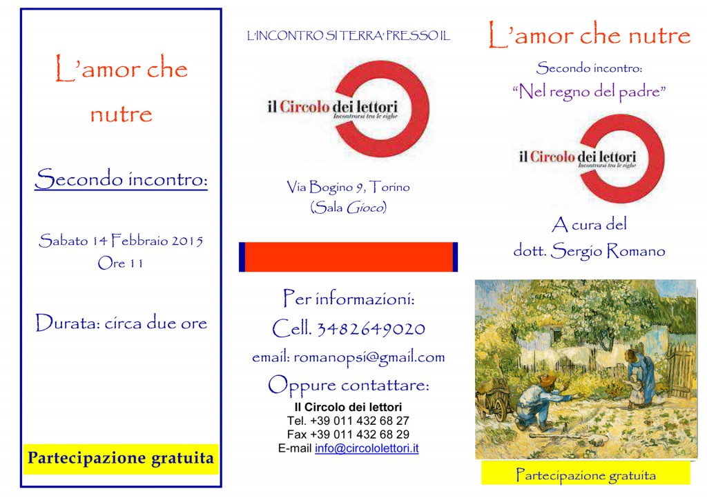 Love brochure circle that feeds readers according incontro.pub